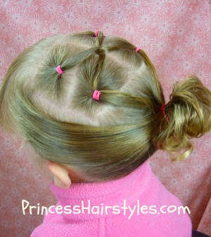 gymnastic hairstyle