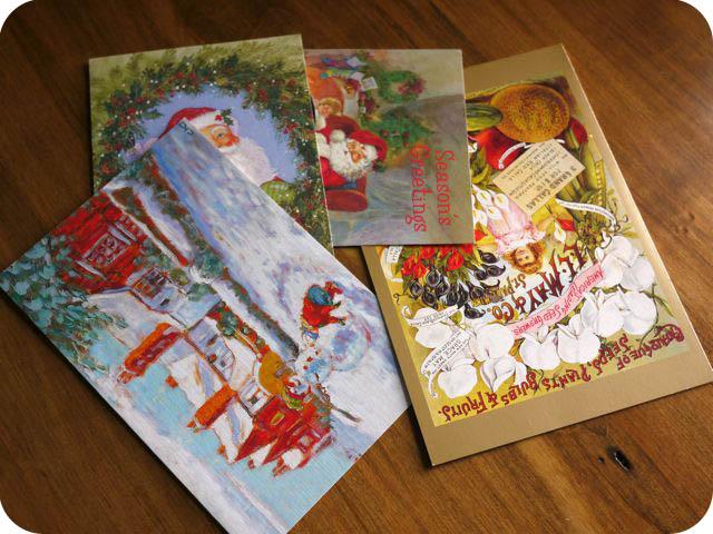 Домики-подвески из открыток Greeting+cards
