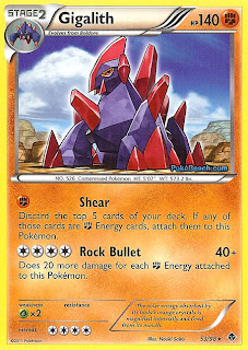 Gigalith Pokemon Card Emerging Powers set