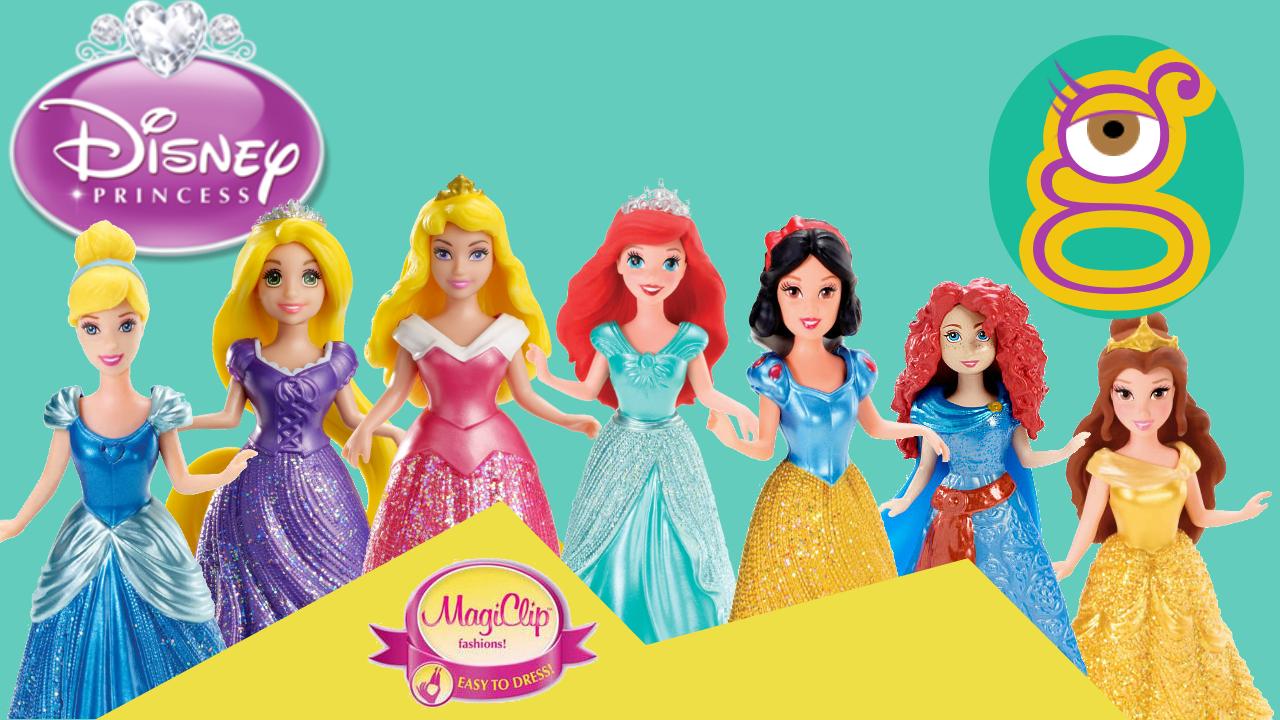Vídeo de la Princesas Disney Magiclip Princess Aurora Ariel Cenicienta Bella Blancanieves Rapunzel Frozen Merida