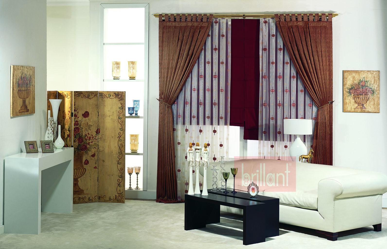 brillant fon perde modelleri elif perde. Black Bedroom Furniture Sets. Home Design Ideas