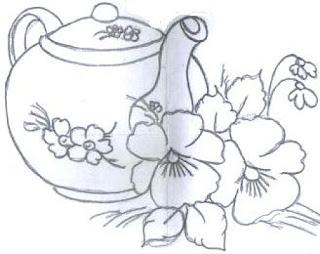 bule com flores