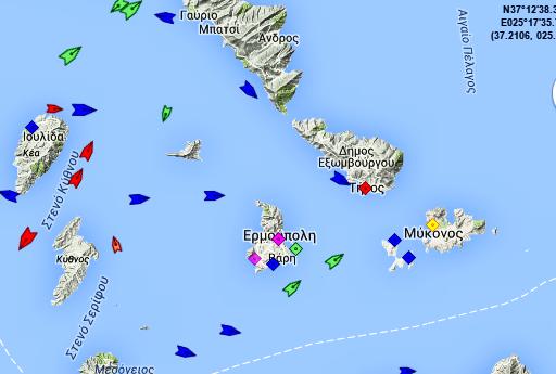 Δείτε ζωντανά την κίνηση των πλοίων στο νησί μας