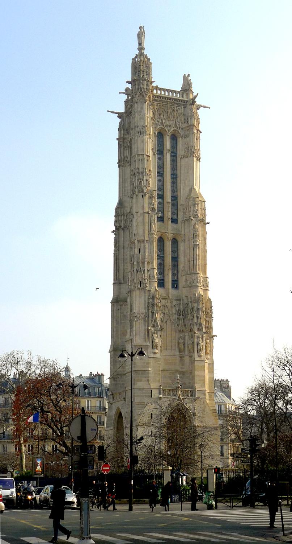 Blue lion guides paris sot rique la tour saint jacques - Tour saint jacques paris ...