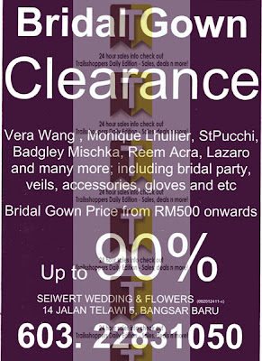 Bridal Gown Clearance 2012