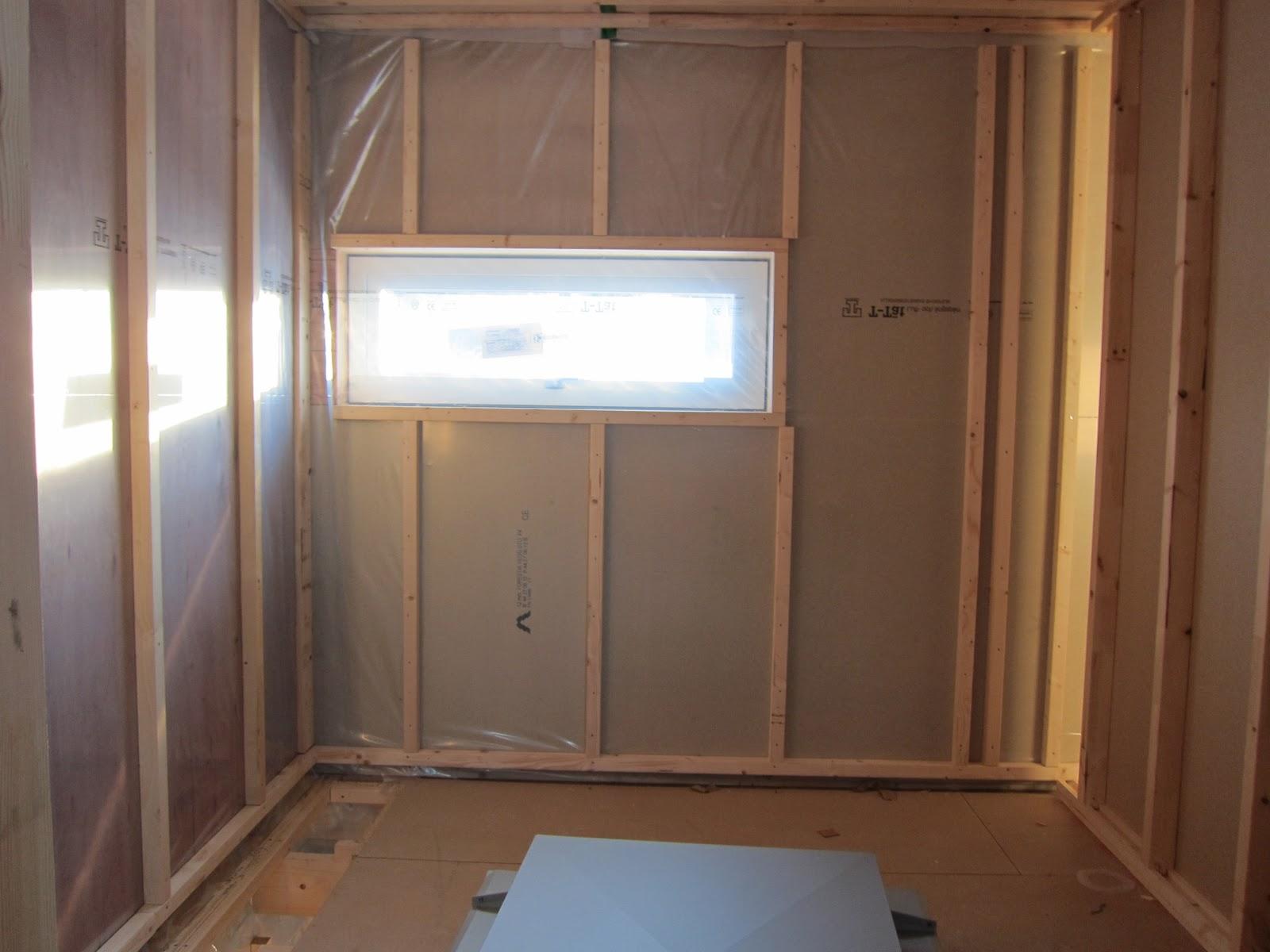 Projekt villa els: innerväggar övervåning på plats