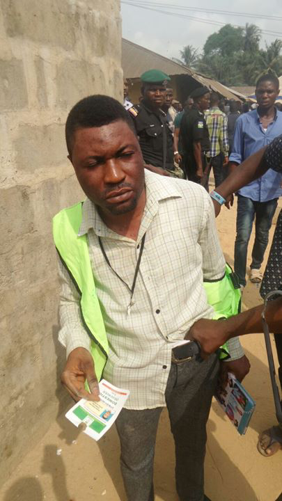 Bayelsa Decides: Man Caught Impersonating Observer (Photo)