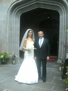 the beautiful bride and her dad at adare manor