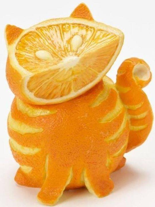 Funny orange carving art 3