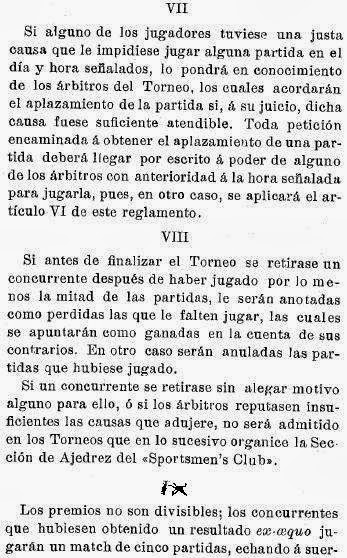 Recortes sobre Torneo de Ajedrez para el Campeonato de Cataluña disputado en 1905 en Barcelona (4)