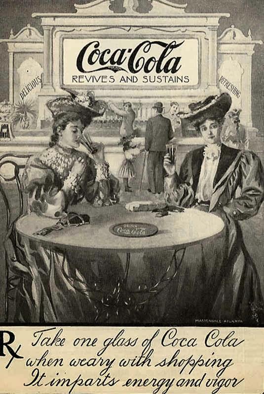 Propaganda antiga da Coca-Cola em 1896