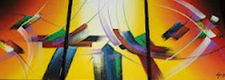 Cuadros Abstractos Modernos Sala