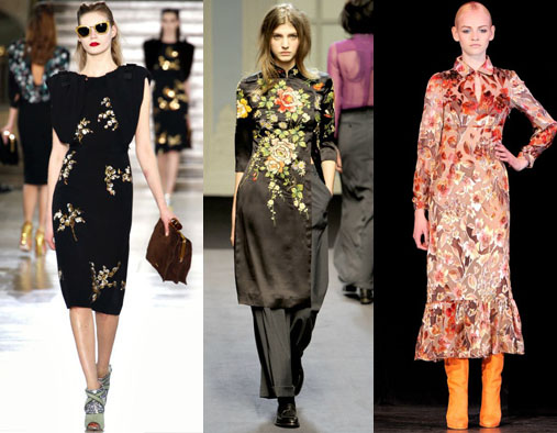 Платья в цветочек модные
