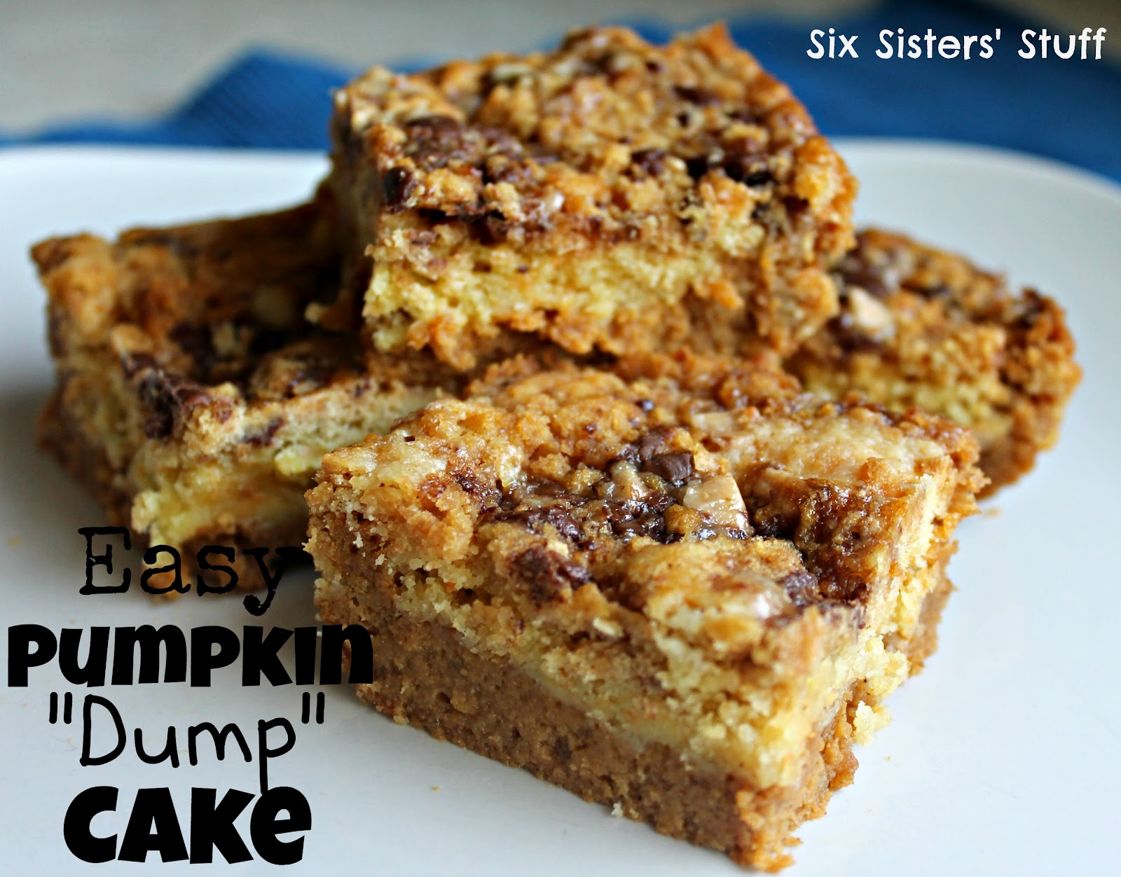 Pumpkin Dump Cake Using Spice Cake