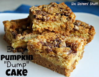Pumpkin Dump Cake Recipe on SixSistersStuff.com | Six Sisters' Stuff