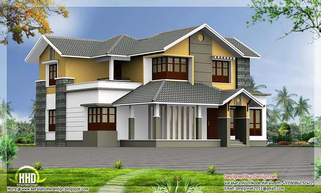 Kerala style home with courtyard in 2500 sq.feet