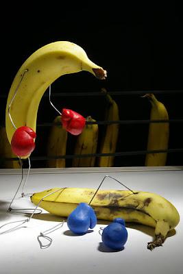 imagens cômicas, terry border, banana, boxe