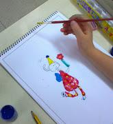 hemos pegado dibujos niños y de niñas