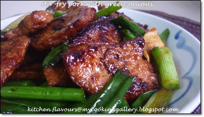 kitchen flavours: Stir-Fry Pork with Green Onions