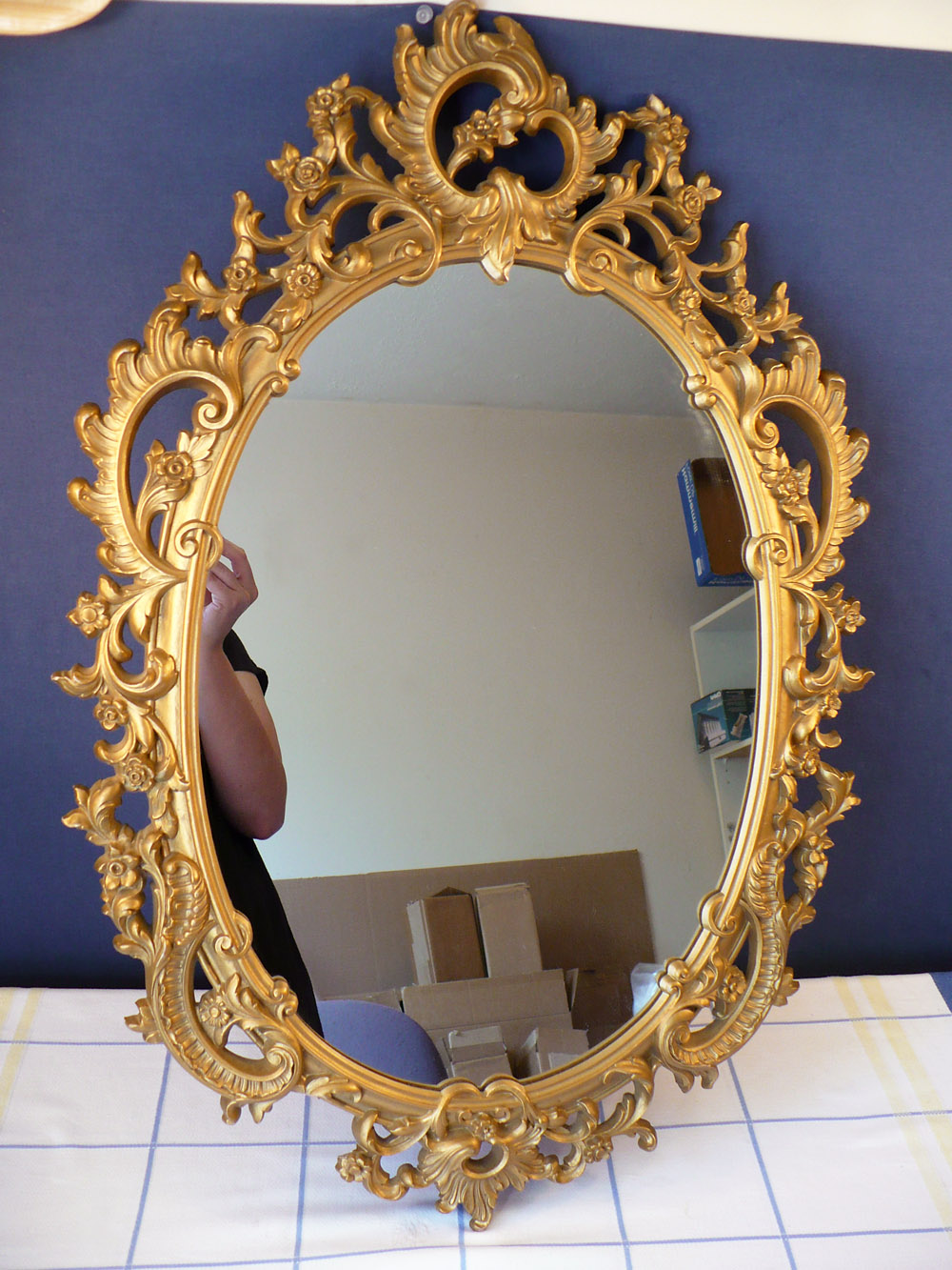 Vintage goodness 10 august 2011 vintage syroco gold wall mirror shabby ornate floral amipublicfo Gallery