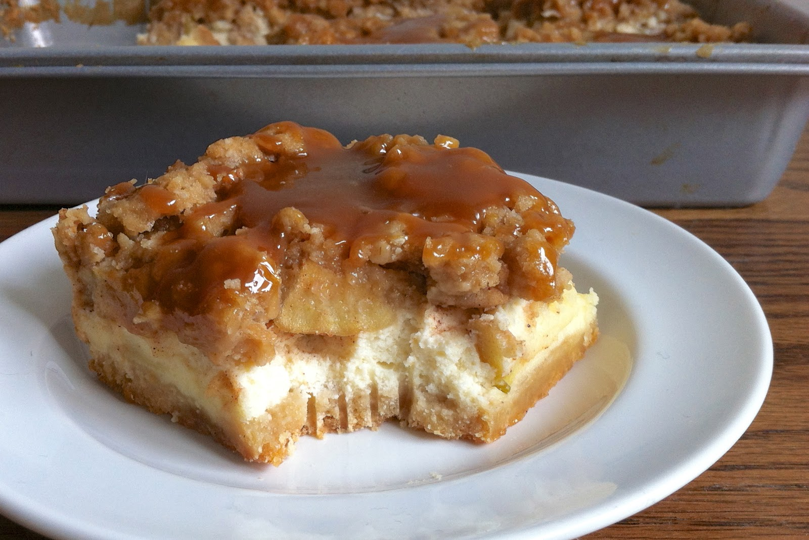 the nonpareil baker: Caramel Apple Cheesecake Bars