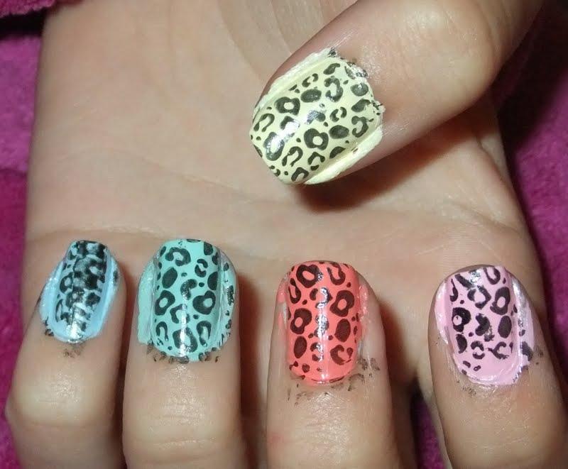 Gretalrabbit Writes My Sisters Nail Of The Day Pastel Cheetah Print
