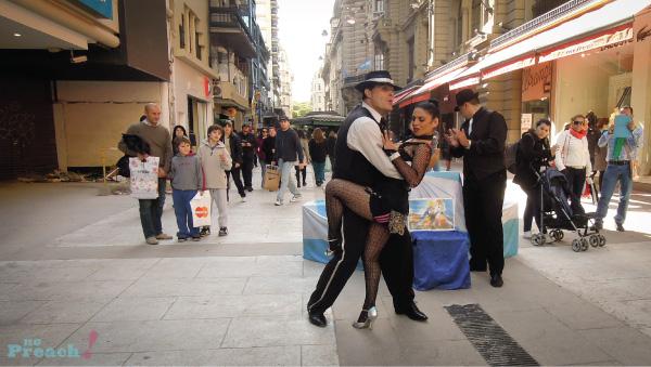 tango de rua tradicional - argentina - buenos aires - calle florida