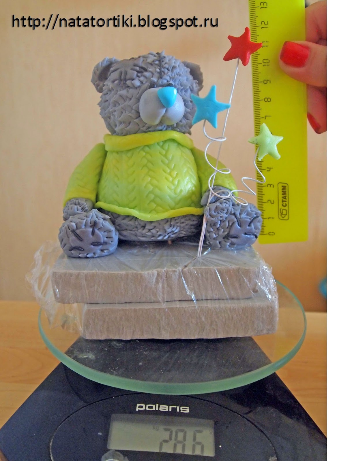 Как сделать мишка тедди из мастики
