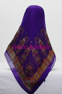 Tudung Miss Color Cotton Bidang 50 Paisley C