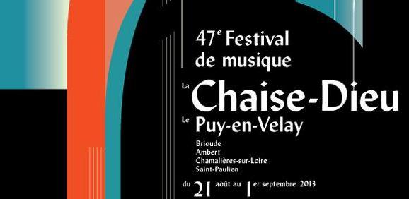 affiche festival de la Chaise dieu 2013