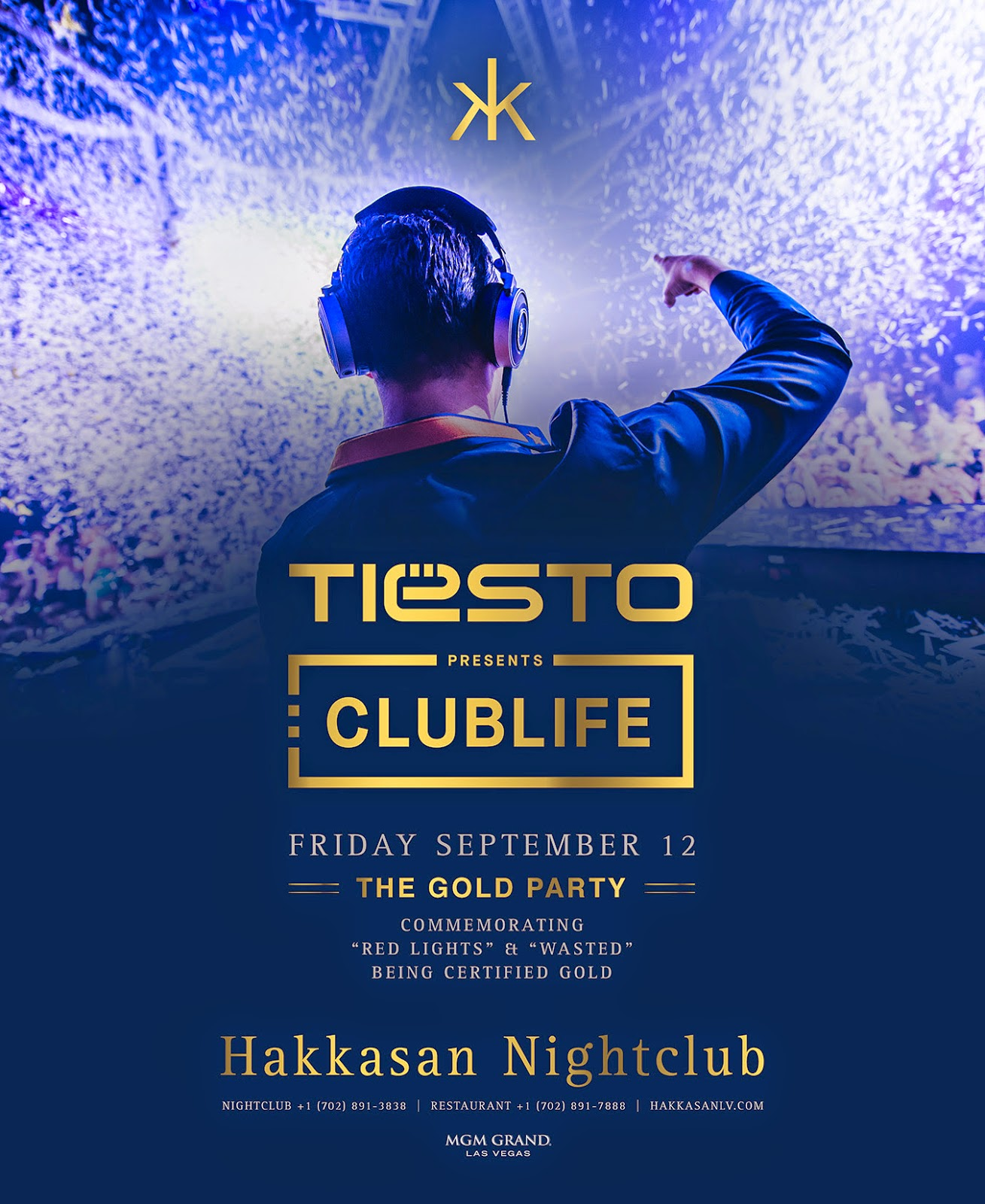 """TIËSTO'S """"WASTED"""" FEATURING MATTHEW KOMA AND """"RED LIGHTS"""" OFFICIALLY CERTIFIED GOLD"""