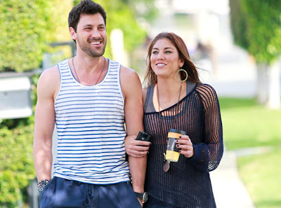 Maksim Chmerkovskiy and Hope Solo
