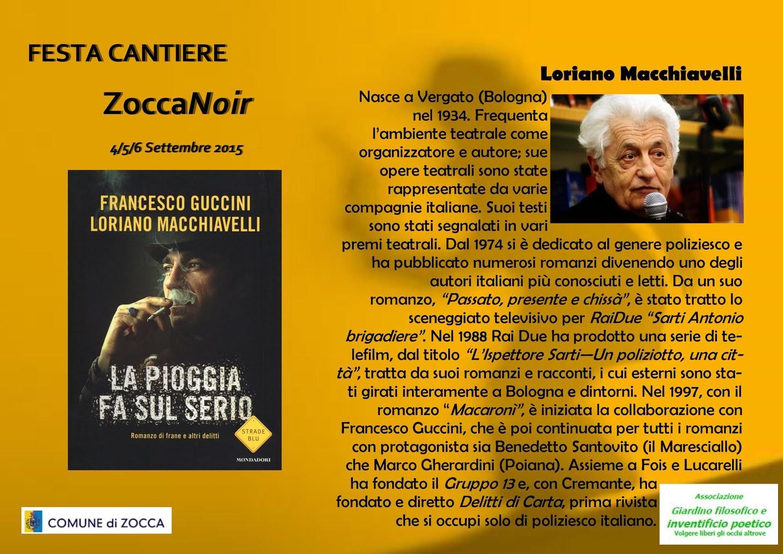 Biografia Loriano Macchiavelli