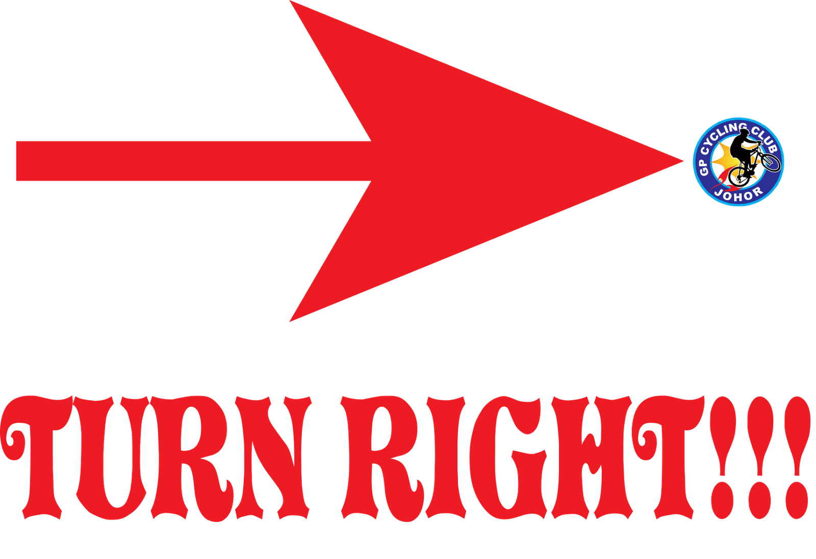 Turn Right Arrow Label