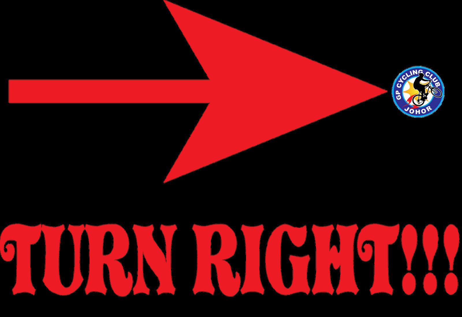 Turn Right Arrow Label