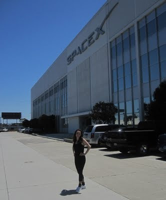Heather at SpaceX headquarters