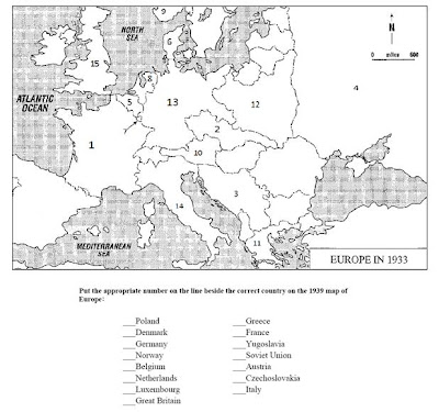 1933 Map Of Europe.8th Grade Humanities Europe 1933 What Is The Significance Of This Map