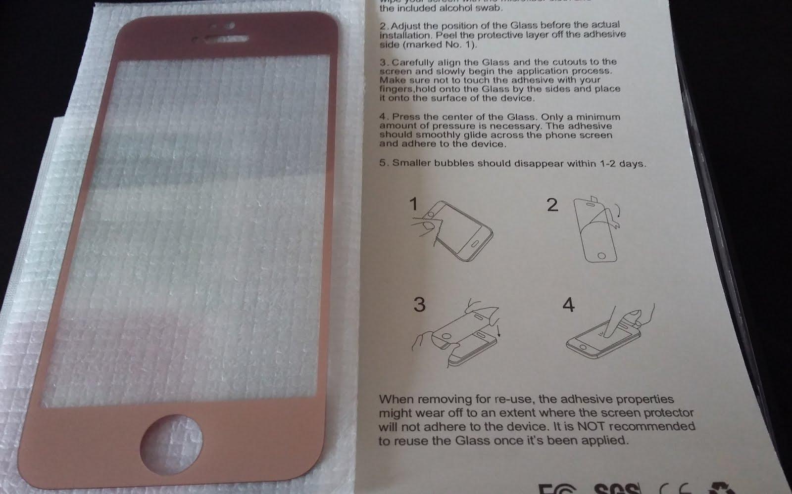 Скрийн протектор за iPhone 5 / 5s / 5se преден - златен
