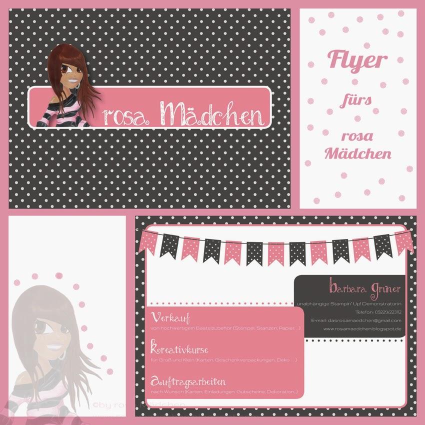 Flyer fürs rosa Mädchen Stampin' Up! Demo