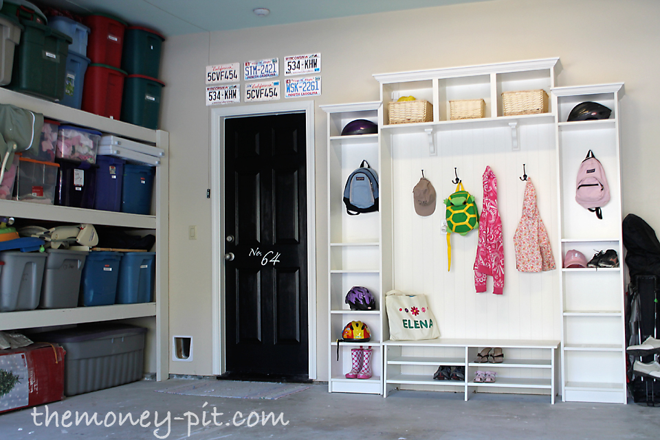 Garage and mudroom reveal the kim six fix for Garage mudroom