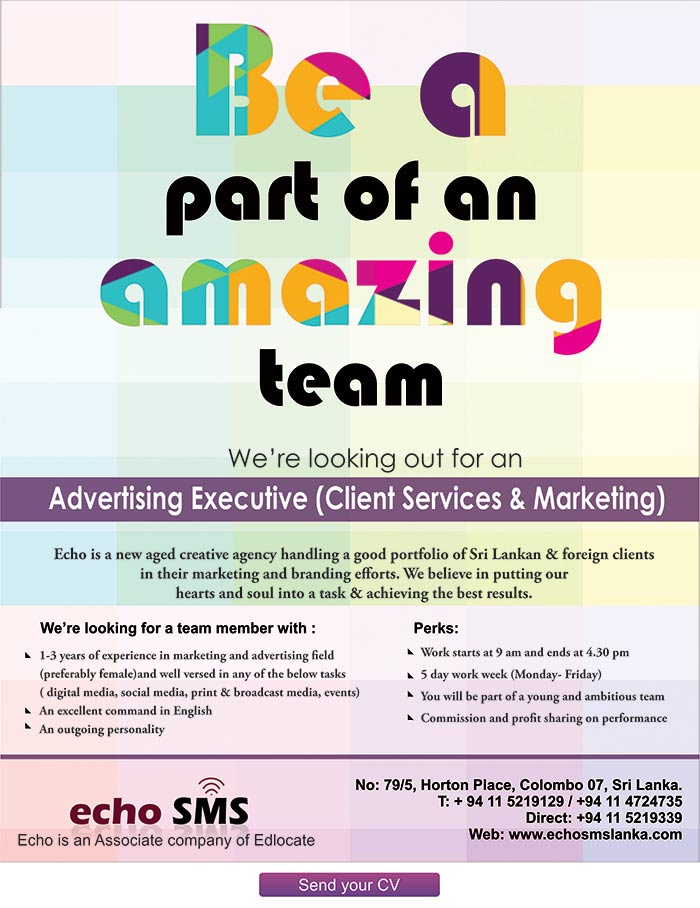 Vacancy for a marketing executive