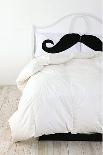 moustache pillows