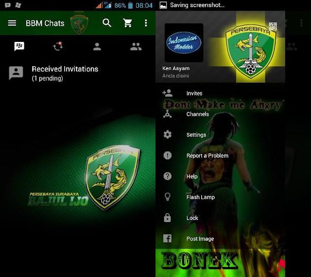 Preview BBM Persebaya - BBM Android V2.11.0.16