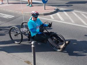 """Sunday(13-9-2015) :-Paraplegic competing in the """"BUDAPEST MARATHON""""."""