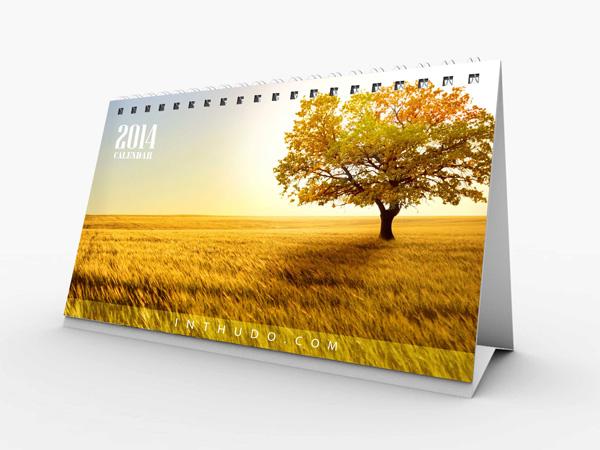 Mẫu lịch để bàn làng quê 2014