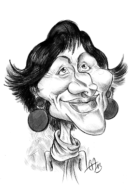 caricature de Dominique Bertinotti (Ministre de la Famille) by Guillaume Néel