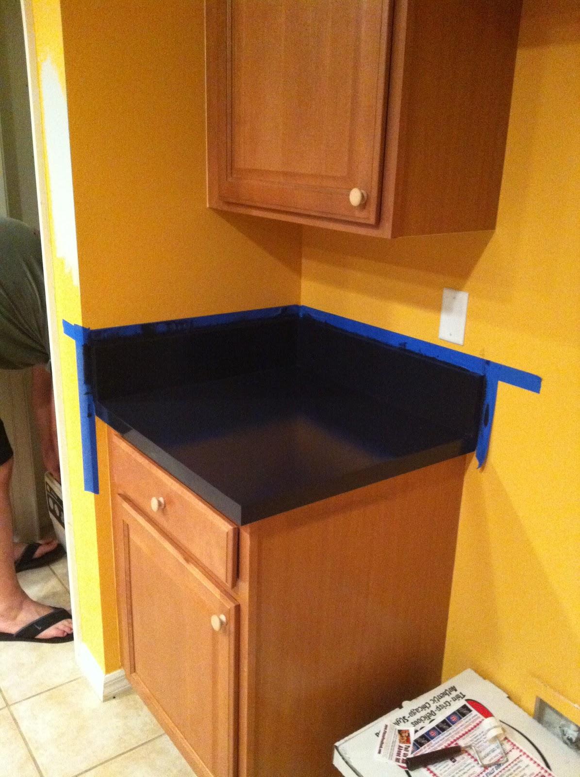 Rustoleum Countertop Paint Prep : Rustoleum actually has a Countertop Transformation kit, but it was ...