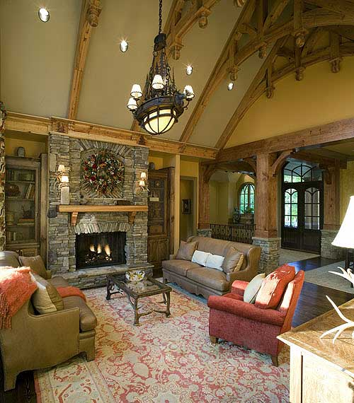 Luxury house stunning rustic craftsman home plan house Craftsman home interior