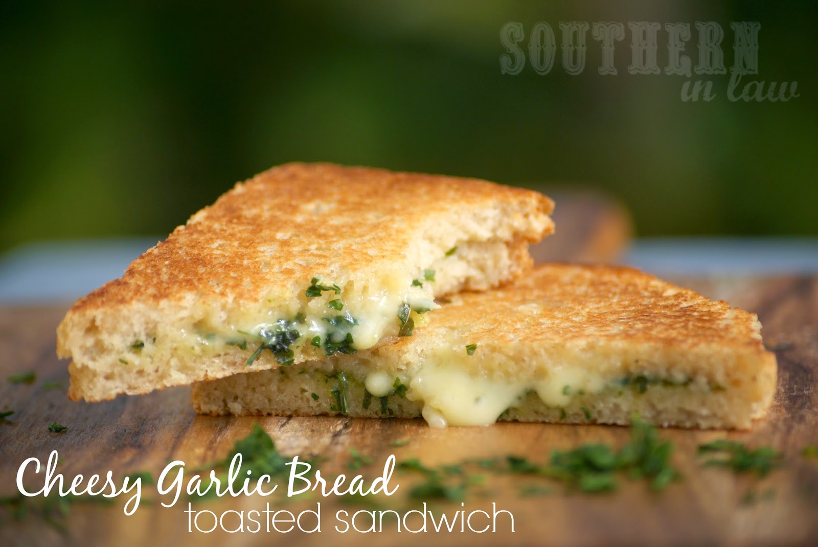 Cheesy Garlic Bread Panini Recipe - gluten free, low fat, vegan/dairy free option, clean eating friendly
