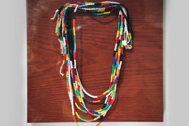 Multi coloured beaded tribal jewellery, Vietnam, Hill Tribe fashion, ethnic style, wandering threads, wandering style, beads